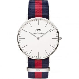 Daniel Wellington 0201DW Classic 40 Nato Oxford Gents Blue and Red Nylon Watch