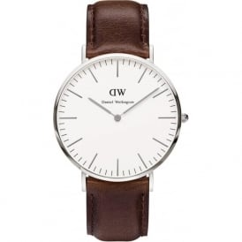 Daniel Wellington 0209DW Classic 40 Bristol Gents Brown Leather Watch