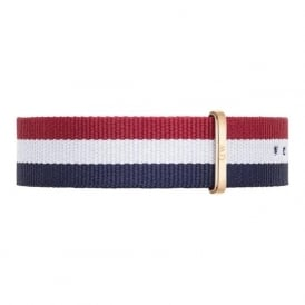 Daniel Wellington 0303DW Classic 40 Nato Cambridge Rose Gents Nylon Strap