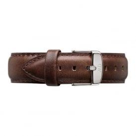 Daniel Wellington 0409DW Classic 40 Bristol Silver Gents Brown Leather Strap