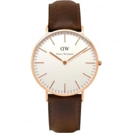 Daniel Wellington 0511DW Classic 36 Bristol Ladies Brown Leather Watch