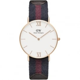 Daniel Wellington 0551DW Grace 36 London Unisex Cotton & Brown Leather Watch