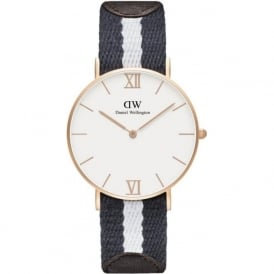 Daniel Wellington 0552DW Grace 36 Glasgow Unisex Cotton & Brown Leather Watch