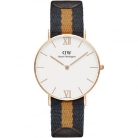 Daniel Wellington 0554DW Grace 36 Selwyn Unisex Cotton & Brown Leather Watch