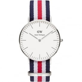 Daniel Wellington 0606DW Classic 36 Nato Canterbury Ladies Nylon Watch