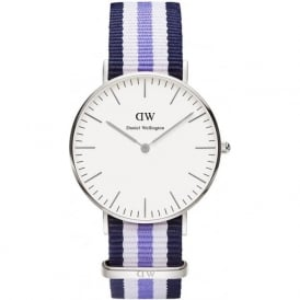 Daniel Wellington 0609DW Classic 36 Nato Trinity Ladies Nylon Watch