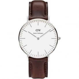 Daniel Wellington 0611DW Classic 36 Bristol Ladies Brown Leather Watch