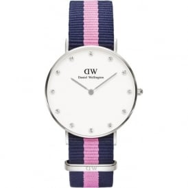 Daniel Wellington 0962DW Classy 34 Winchester Ladies Blue and Pink Nylon Watch