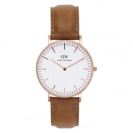 DW00100111 Classic 36 Durham Rose Gold Watch