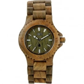 WeWood Date Army Unisex Wooden Watch WDARMY
