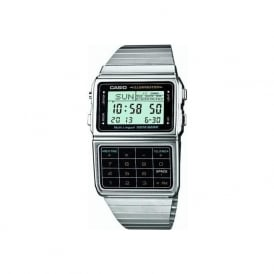 Casio Watches DBC-611E-1EF Calculator Data Bank Stainless Steel Watch