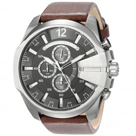Diesel DZ4290 Mega Chief Black & Brown Leather Chronograph Men's Watch