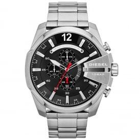 Diesel DZ4308 Mega Chief Black & Stainless Steel Chronograph Men's Watch