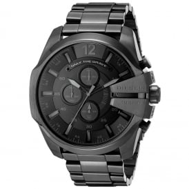 Diesel DZ4355 Mega Chief Black IP & Grey Chronograph Men's Watch