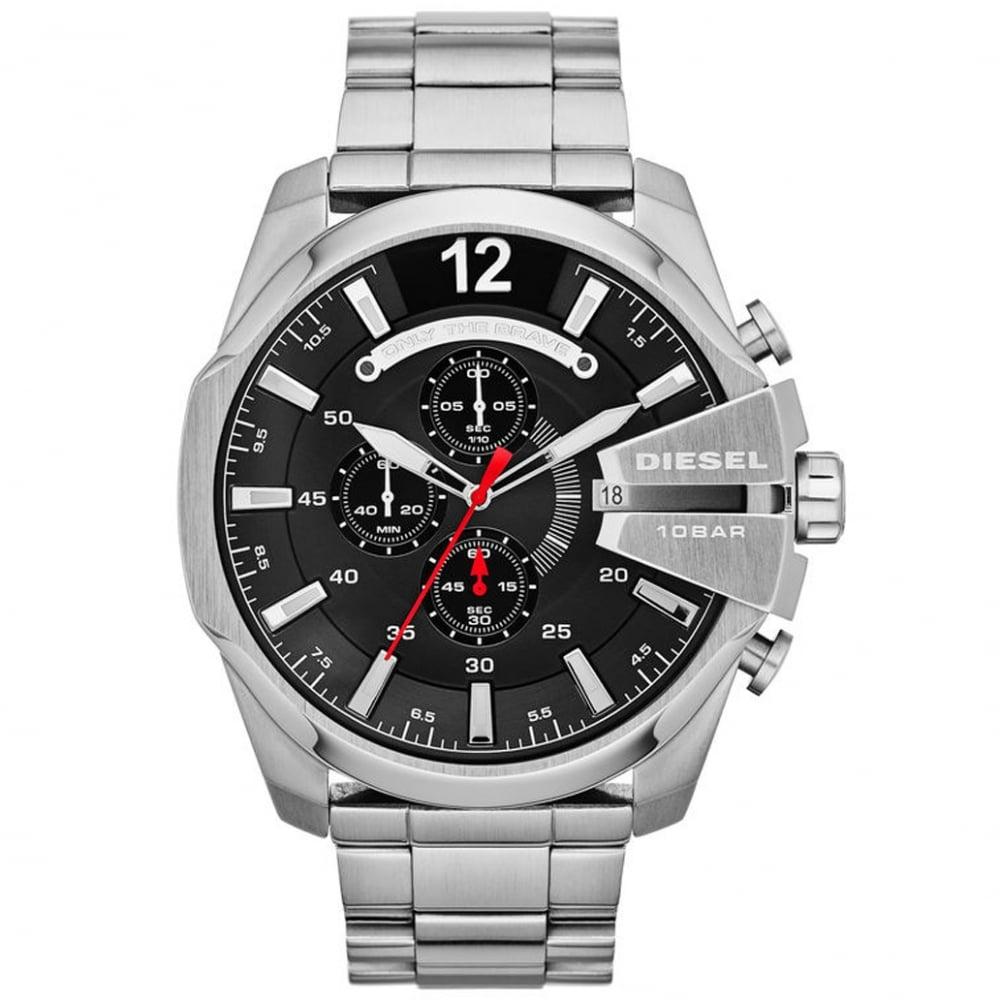 99b1ffee9 DZ4308 Mega Chief Black & Stainless Steel Chronograph Men's Watch