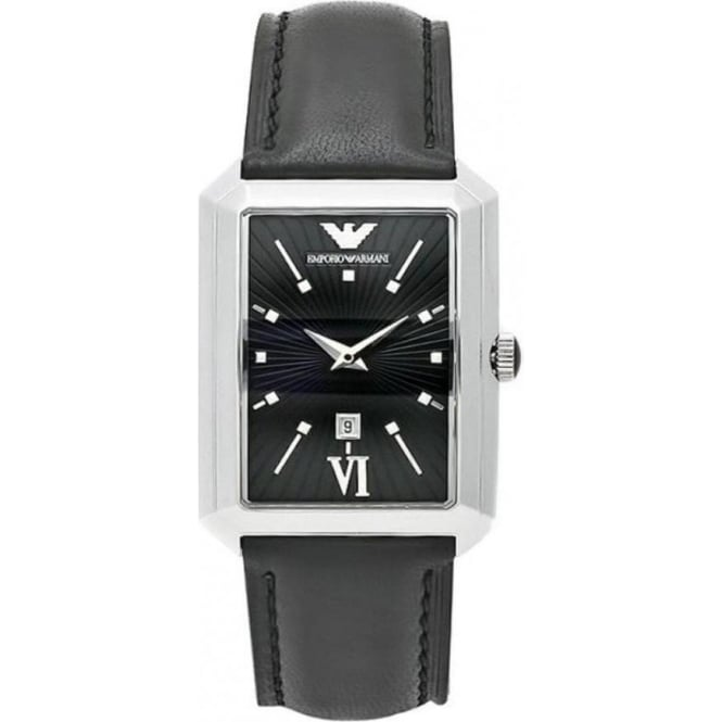 Armani Watches AR0459 Black Leather Womens Watch