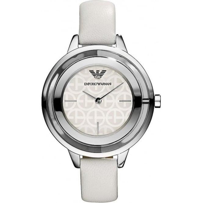 emporio armani ar7300 white leather buy emporio