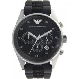 Armani Watches AR5866 Gents Black Silicon Watch