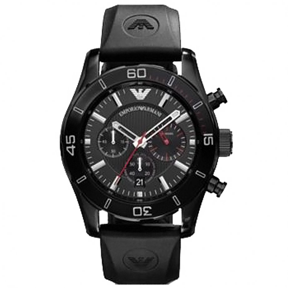 emporio armani ar5948 gents black sports cheapest