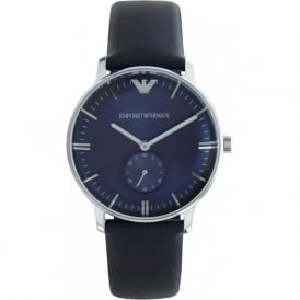 Armani Watches AR1647 Emporio Armani Gianni Unisex Blue Leather Watch