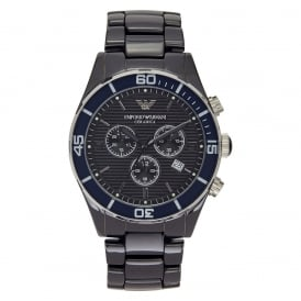 Emporio Armani Mens Black Ceramic Chronograph Watch AR1429
