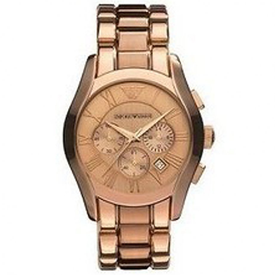 emporio armani ar0365 unisex gold chronograph