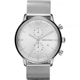 Armani Watches AR0390 Silver Mesh Stainless Steel Mens Watch