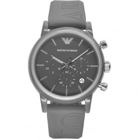 Armani Watches AR1055 Grey Silicon Chronograph Unisex Watch