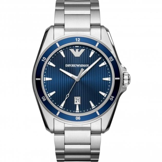 Armani Watches AR11100 Blue & Silver Stainless Steel Men's Watch