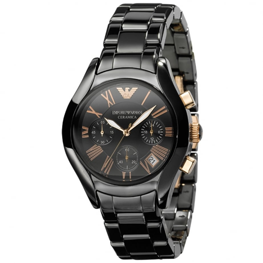 Armani AR1411 Black Ceramica Women's Watch available from Tic Watches Michael Kors Watches Black Ceramic