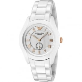 Armani Watches AR1418 White Ceramica Women's Watch