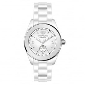 Armani Watches AR1425 White Ceramica Watch