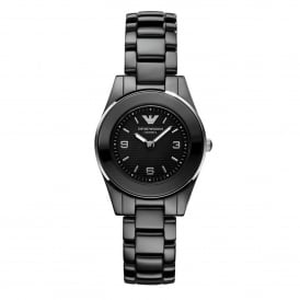 Armani Watches AR1438 Black Ceramic Ladies Watch