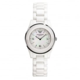 AR1439 Mother of Pearl Dial & White Ceramica Ladies Watch