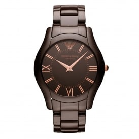 AR1445 Super Slim Brown Ceramic Ladies Watch