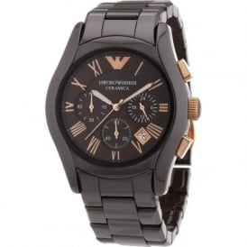 Armani Watches AR1447 Brown Ceramica Chronograph Ladies Watch