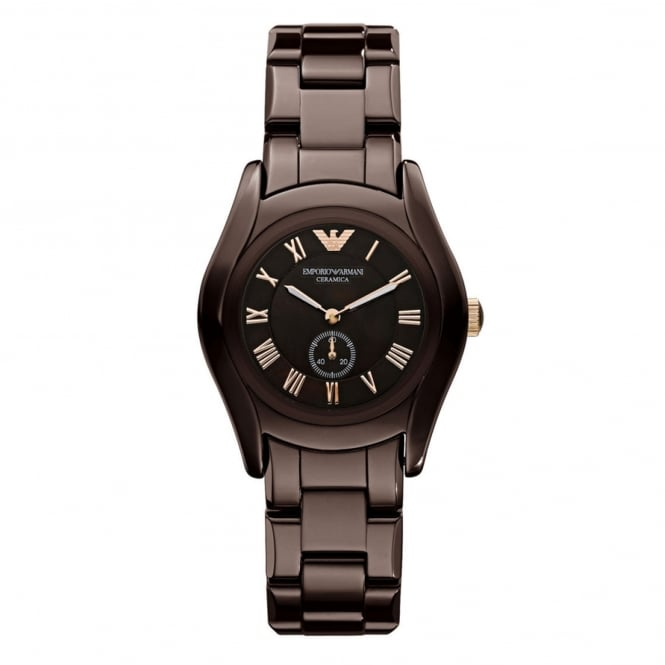 Armani Watches AR1448 Brown Ceramica Ladies Watch