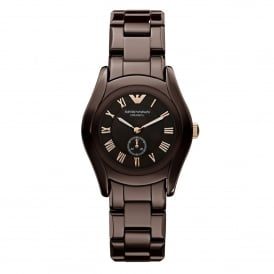 AR1448 Brown Ceramica Ladies Watch