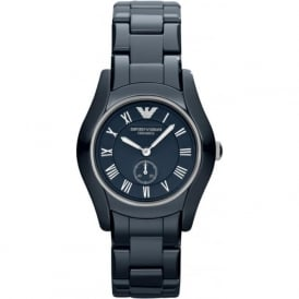 Armani Watches AR1471 Silver & Blue Ceramic Ladies Watch