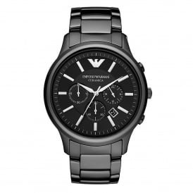 Armani Watches AR1474 Black Ceramica Chronograph Men's Watch