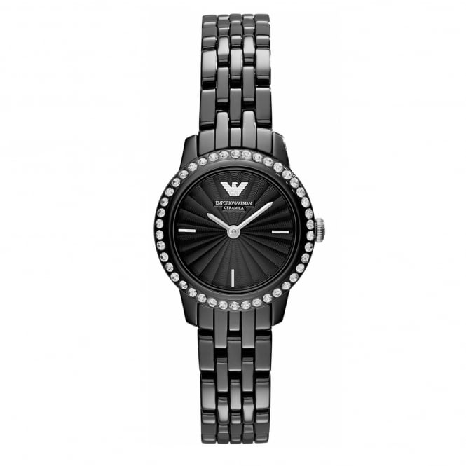 Armani Watches AR1480 Black Ceramica Ladies Watch