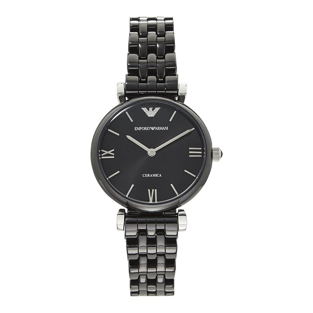 3293785e999d Emporio Armani AR1487 Retro Black Ceramica Ladies Watch on sale at ...