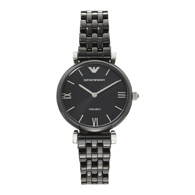 Armani Watches AR1487 New Retro Black Ceramica Ladies Watch