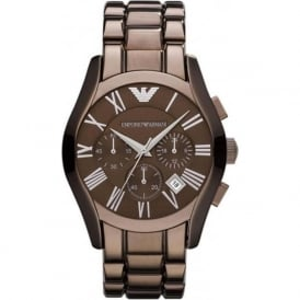 Armani Watches AR1610 Brown Stainless Steel Chronograph Mens Watch