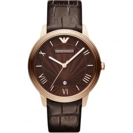 Armani Watches AR1613 Emporio Armani Brown Leather Men's Watch