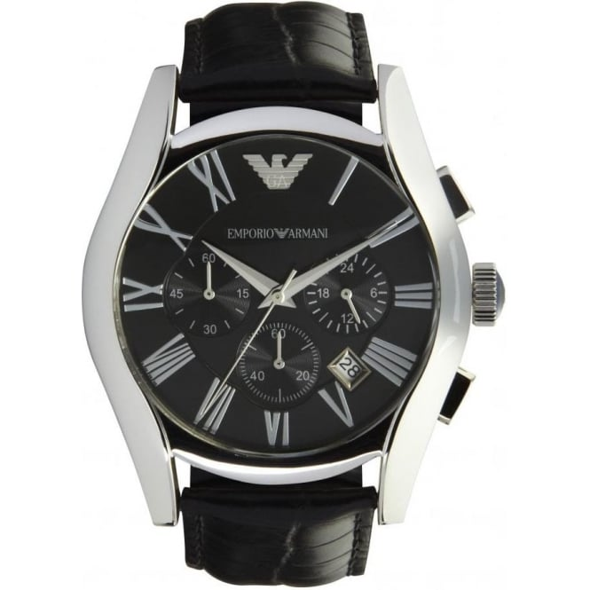 Armani Watches Emporio Armani Watches AR1633 Mens Black Leather Watch