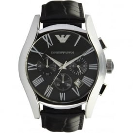 Emporio Armani Watches AR1633 Mens Black Leather Watch