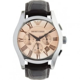 Emporio Armani Watches AR1634 Mens Brown Leather Watch