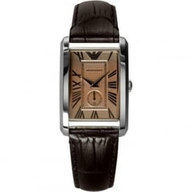 Armani Watches AR1637 Armani Brown Leather Ladies Watch