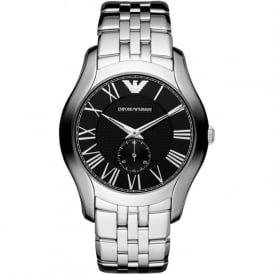 Armani Watches AR1706 Black & Silver Stainless Steel Mens Watch